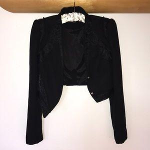 Bebe Asymmetrical Black Jacket